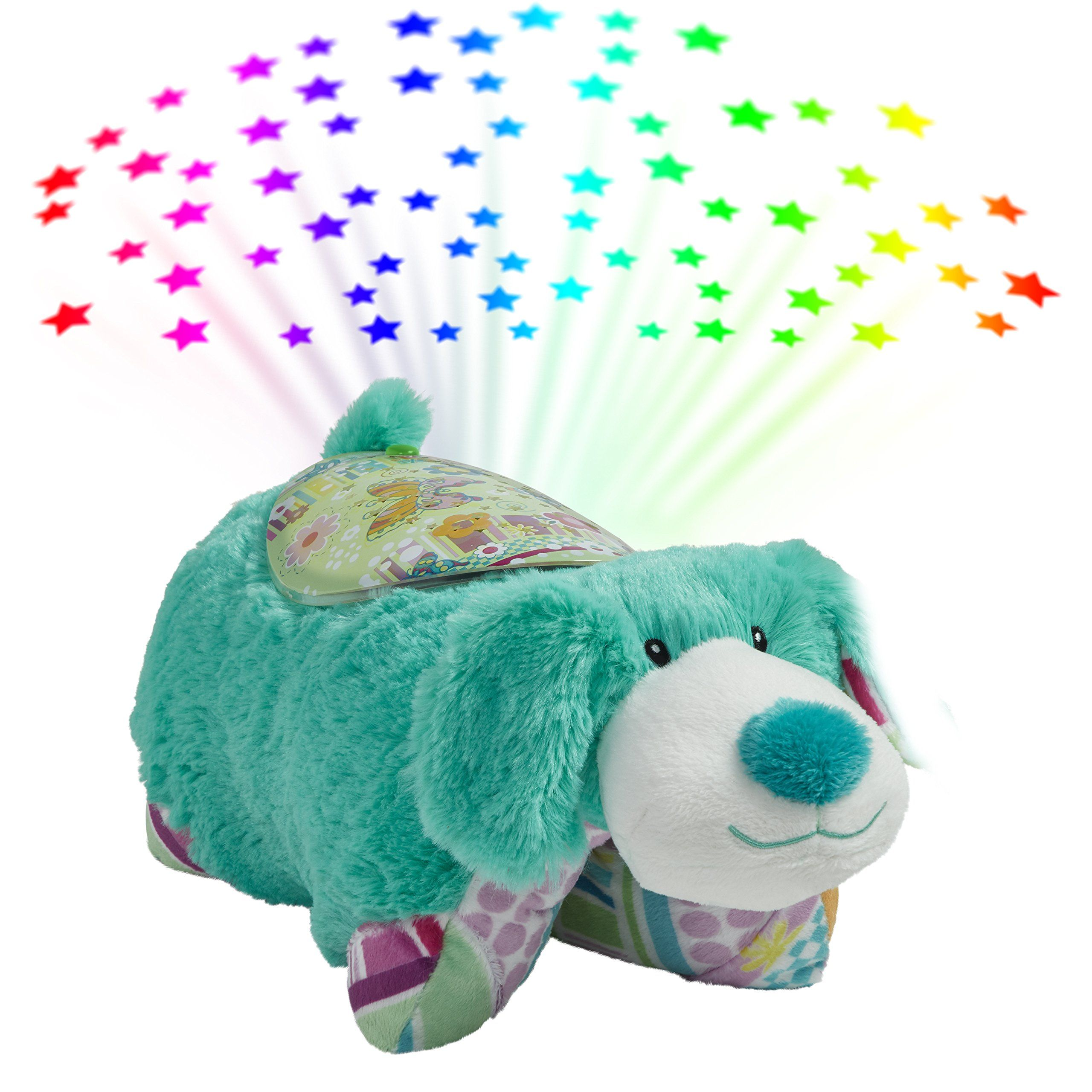 Pillow Pets Colorful Puppy Sleeptime Lites Teal Stuffed Animal Plush