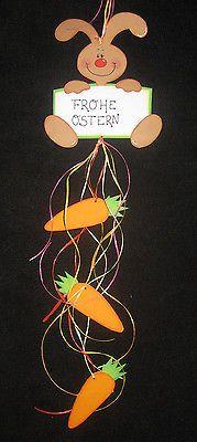 Fensterbild / Kette aus Tonkarton  Frohe Ostern  Frühling / Ostern #hoppyeaster