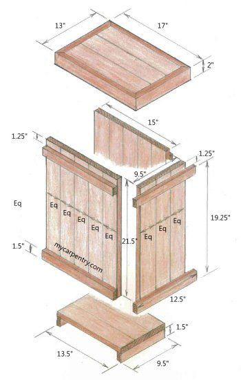 Wood waste basket exploded view | home ideas | Pinterest | Madera ...