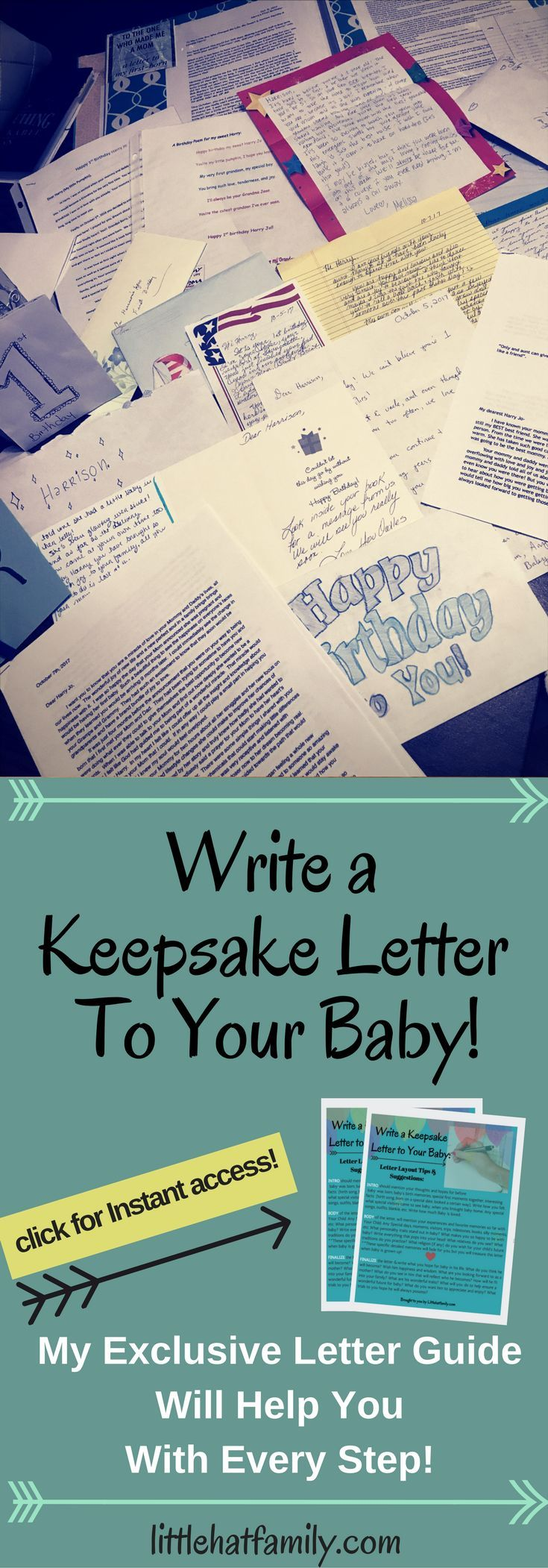 Write A Letter To Your Baby Keepsake Birthday First Memories