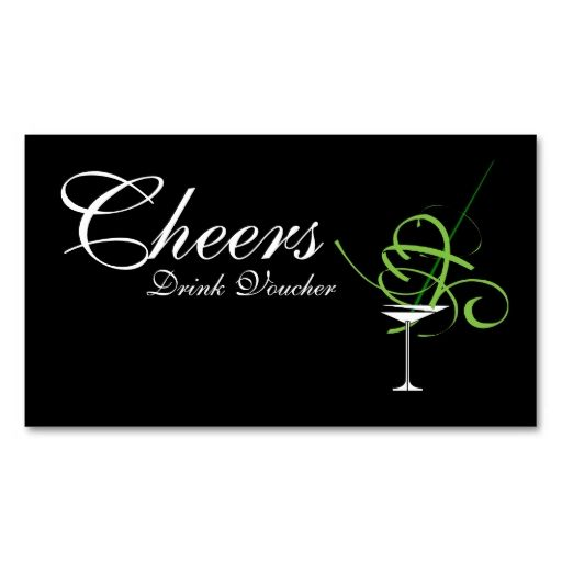 Wedding Drink Voucher Business Card Template I love this design - creating vouchers