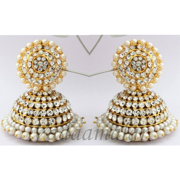 earrings pearl stud extra clip large references