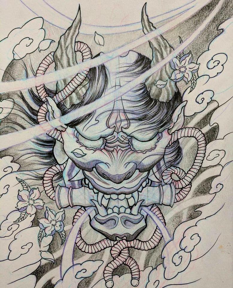 Pin De Terry Marjoram En Hannya Tattoos Japanese Tattoo Designs Y