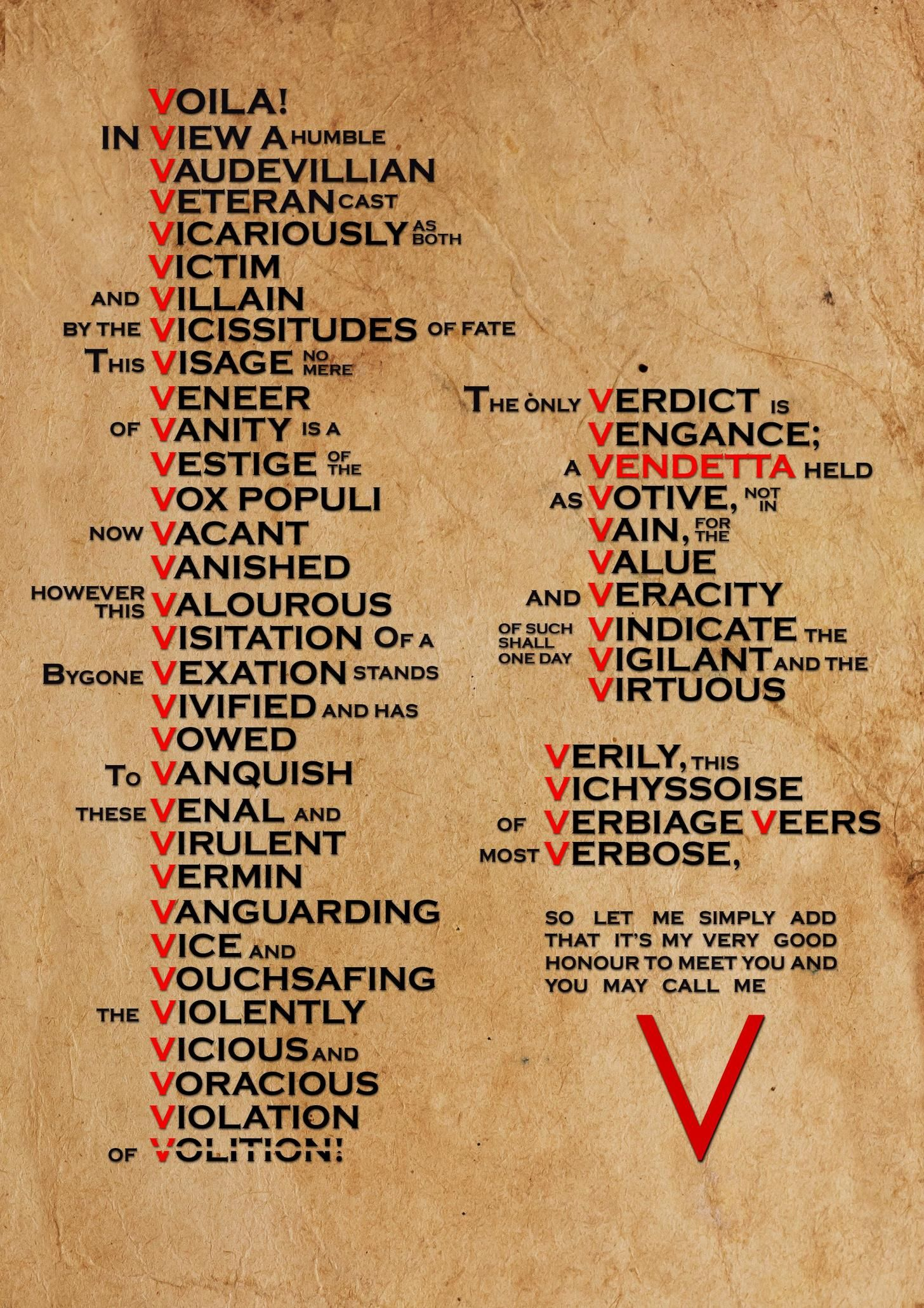 The Fifth Of November Words V For Vendetta Quotes V For Vendetta Vendetta