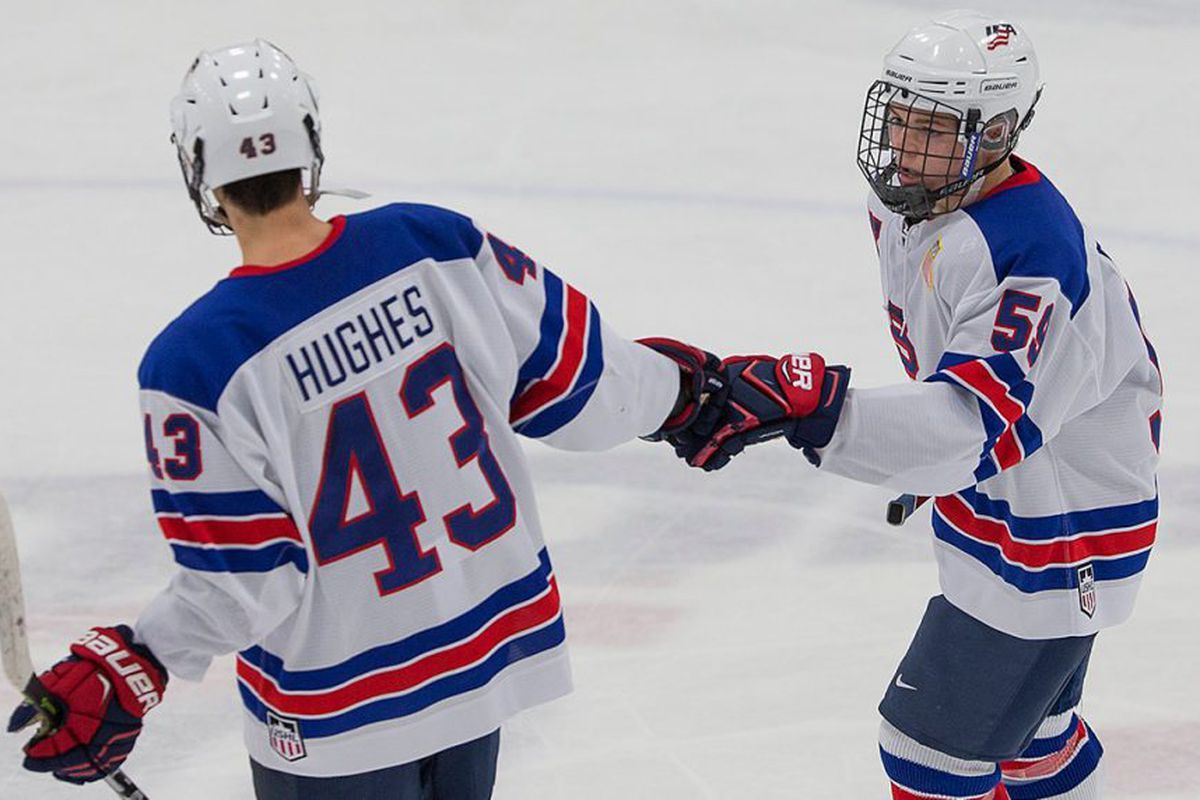 Jack Hughes Jersey Number Google Search With Images American Hockey Usa Hockey Hockey Players