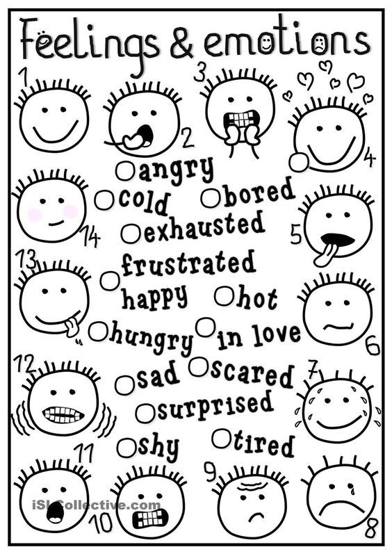 Feelings Emotions Coloring Pages Emotional Adjectives Pinterest