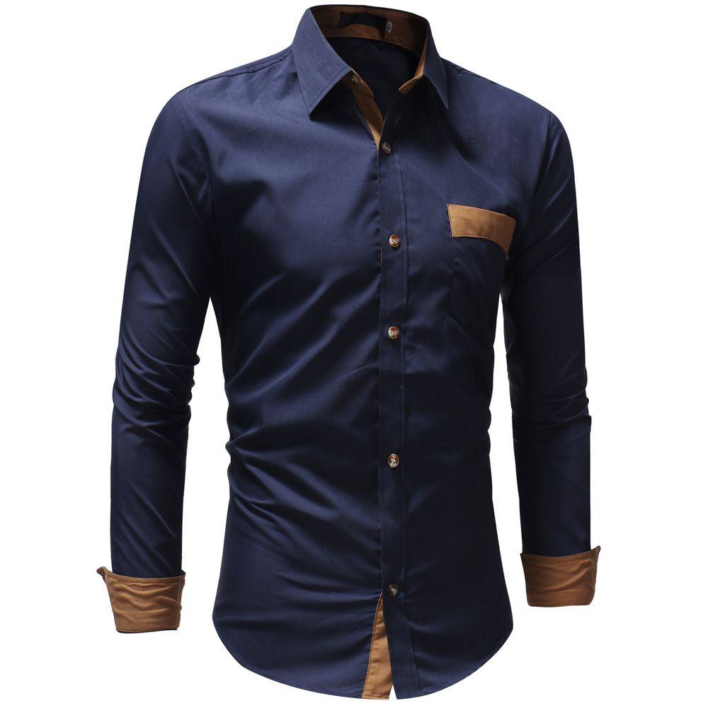 New 2018 Autumn Cotton Dress Shirts High Quality Mens Casual Shirt
