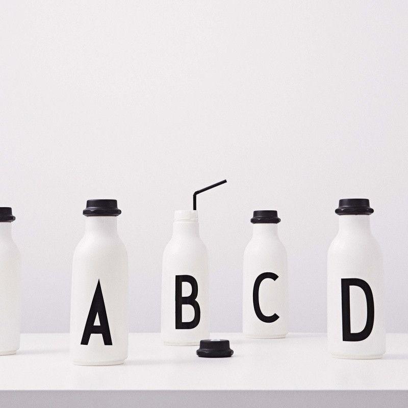 Danish Scandi Cool Design Letters Kids Water Bottle D Letter By Arne Jacobsen