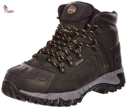 Dickies Stockton, Chaussures de Protection pour Homme - Noir - Noir, 45 EU