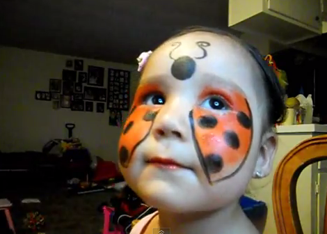 Change Into A Ladybug Or A Fairy 5 Facepainting Tutorials Face Painting Halloween Ladybug Face Paint Diy Halloween Face