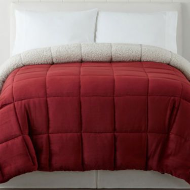 JCPenney Home™ Ultra Mink Faux Fur and Sherpa Comforter