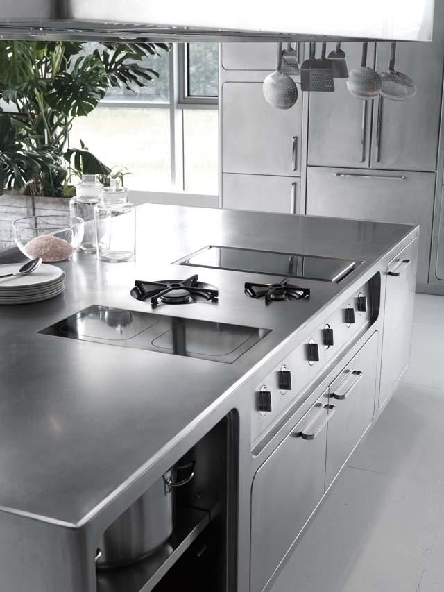 edelstahl küche abimis prisma kochplatte arbeitsplatte profi koch ... - Edelstahl Arbeitsplatte Küche