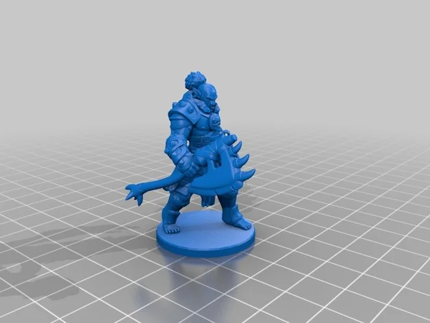 Orc Barbarian Miniature by Velrock Thingiverse
