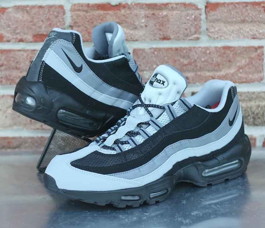 fd9dec34301 Nike Air Max 95 Essential Men s Running Shoes Black Wolf Grey 749766-005  Size 12  Nike  RunningCrossTraining