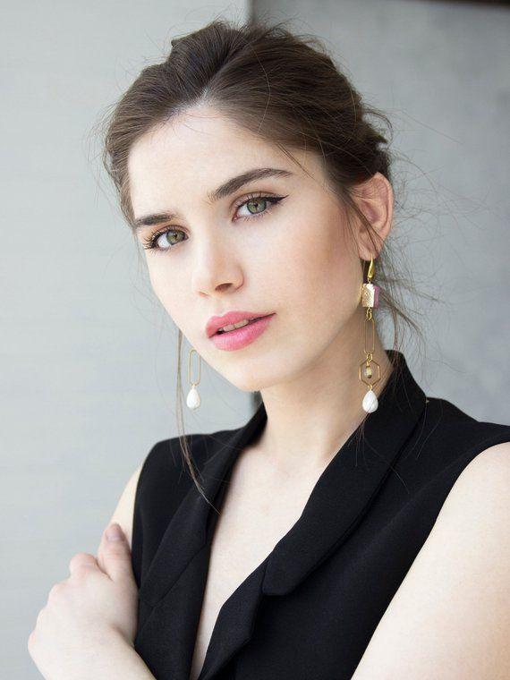 c1739163ddcd8b Mismatched earrings gold asymmetrical earrings jewelry 2019 druzy earrings  asymmetrical dangle earri