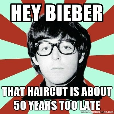 I hate justin bieber and never really listened to the beatles but this is too funny to pass up!!