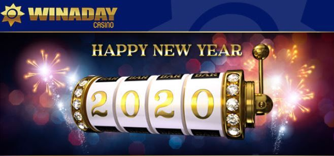 Winaday casino weekly promo: New Year week bonuses