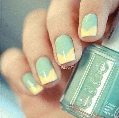 Give me lemon-lime french manicure #NAILS