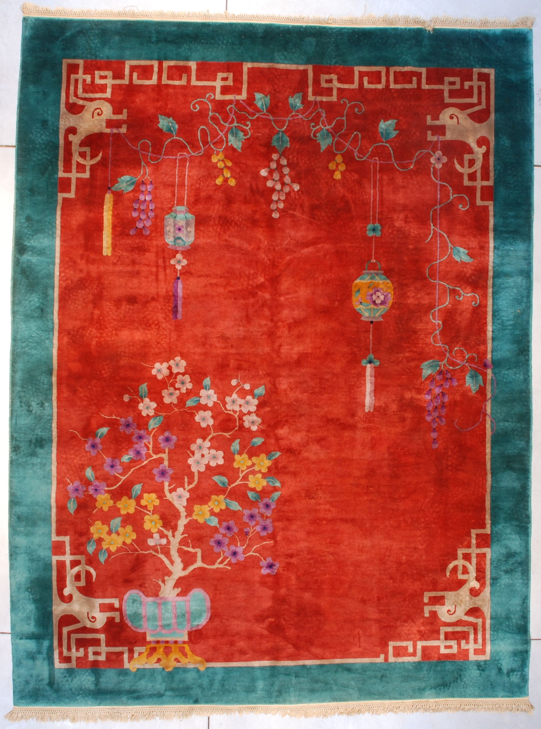 Antique Art Deco Chinese Carpet Oriental Rug Antique Chinese Rugs
