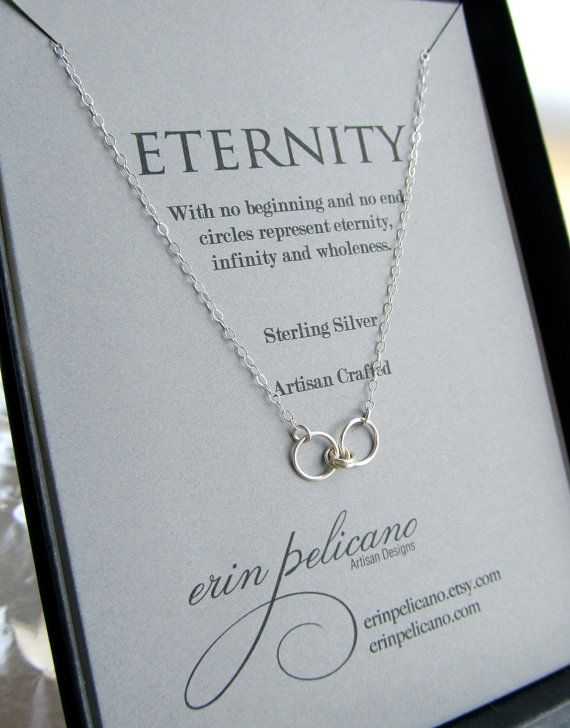 Eternity necklace jewelry for wife infinity jewelry girlfriend gift eternity necklace infinity necklace sterling by erinpelicano 4200 i love anything that is symbolic of true love l mozeypictures Image collections
