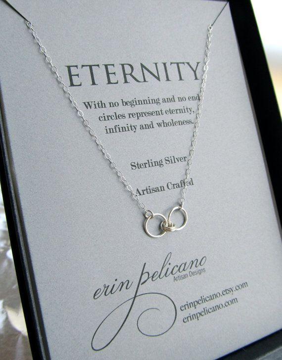 Eternity Necklace Jewelry For Wife Infinity Jewelry Girlfriend Gift