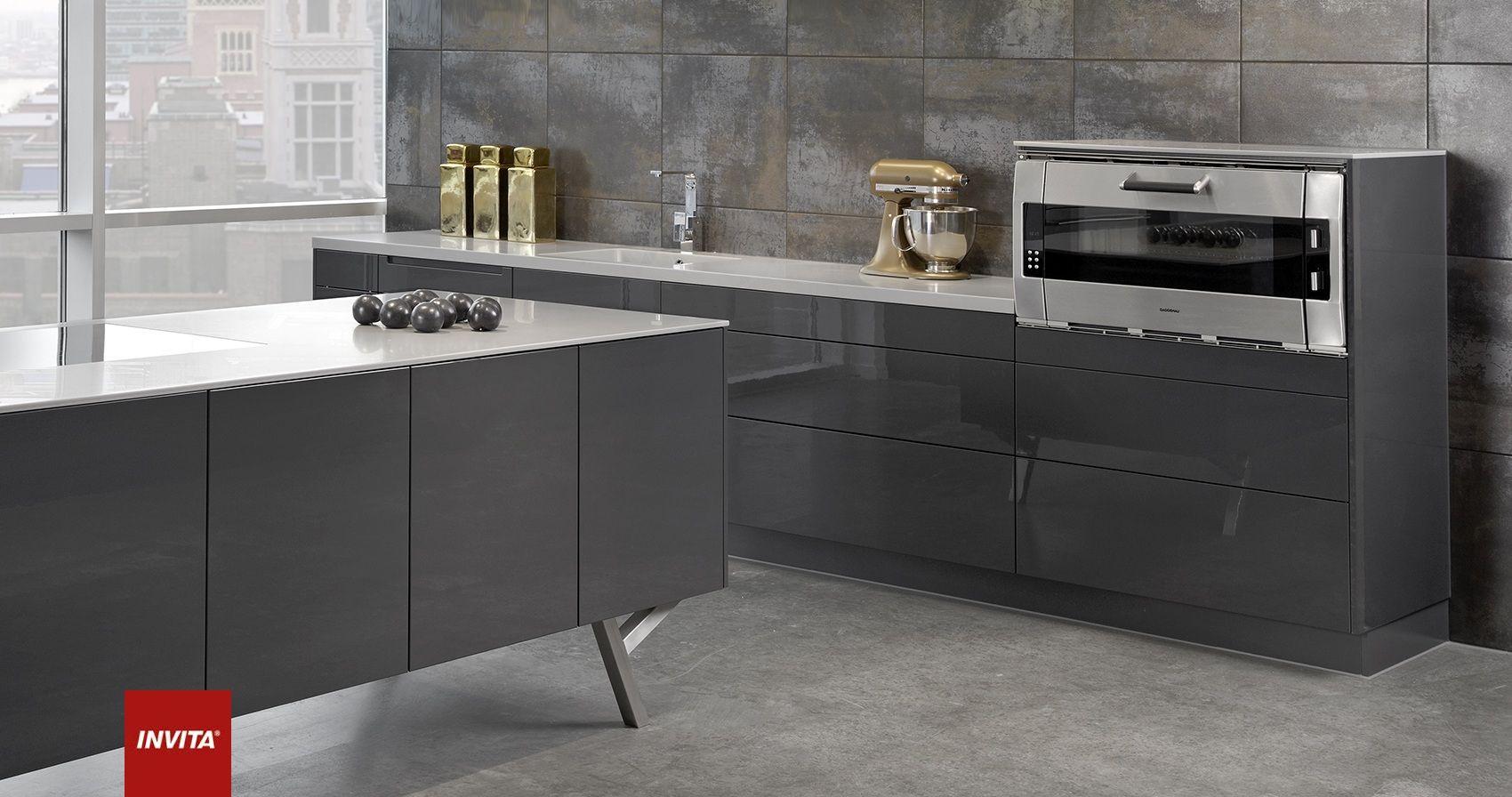 Athena køkken lavagrå højglans er et spændende alternativ til de ...