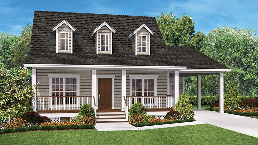 Home plan homepw76981 900 square foot 2 bedroom 2 for Www homeplans com