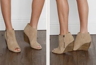 special sales buy best 100% high quality These swade nutral pep toe wedges with wood accents are so cute ...