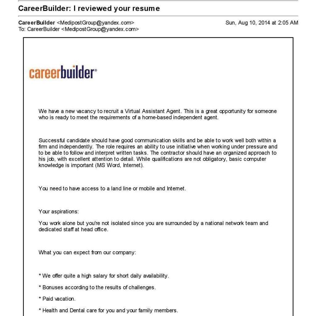 Career Builder Resume Template 2