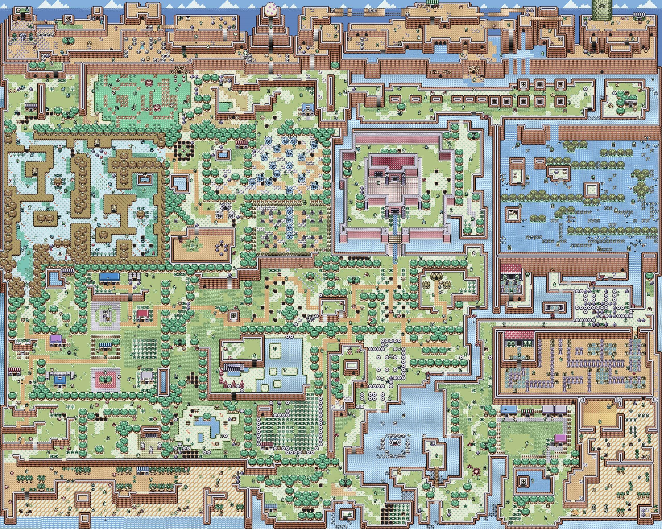 Another overworld map from a great Zelda game! | Pixel Art | Zelda