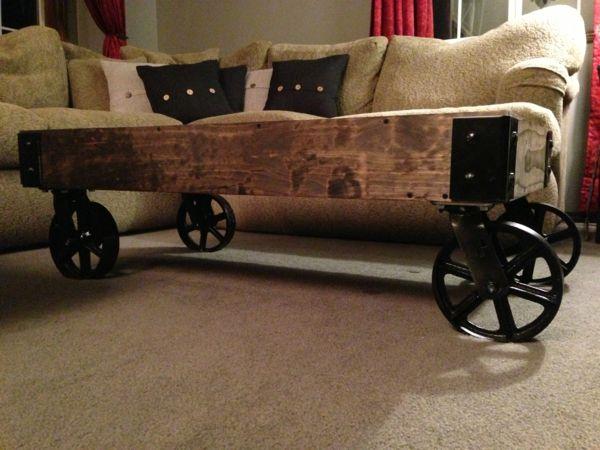 Couchtisch selbst bauen - DIY Ideen für Bastler Carolines