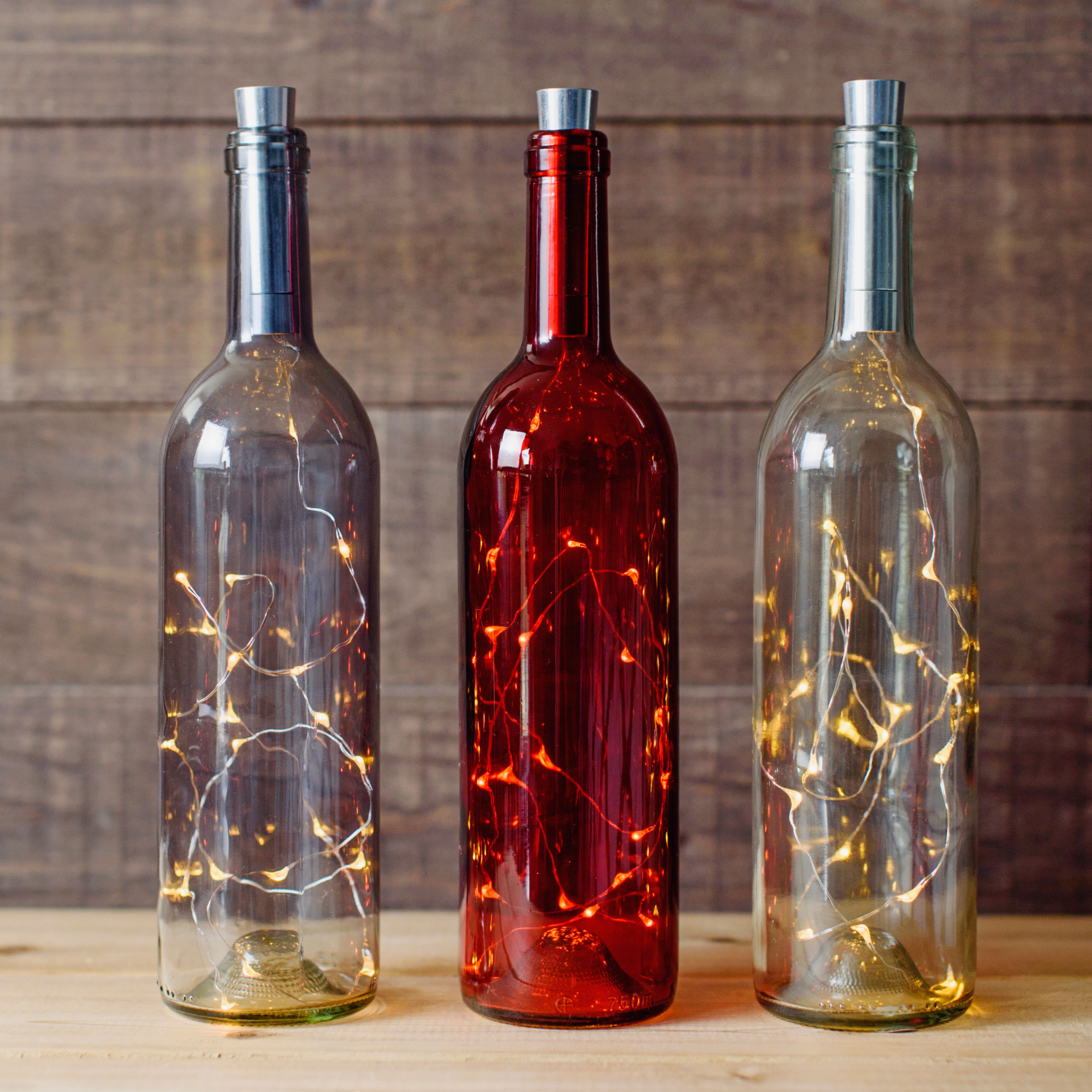 Wine Bottle Lantern Collection By Torre Tagus Wine Bottle 20 Led Lantern Red Torres Frascos