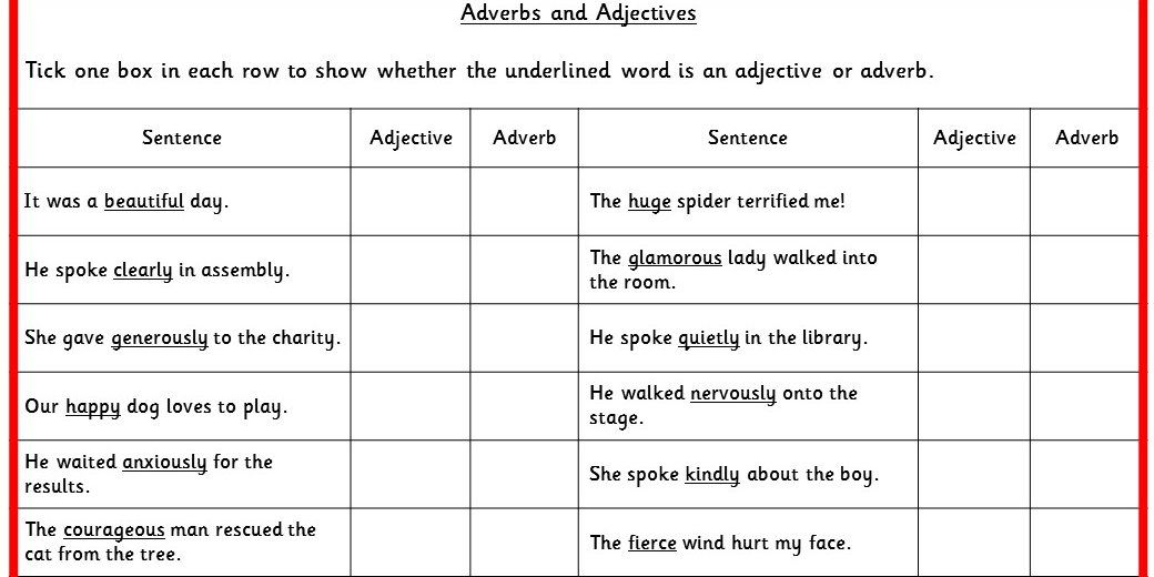 Printable Worksheets past tense worksheets ks2 : Two differentiated Literacy activities using adjectives and ...