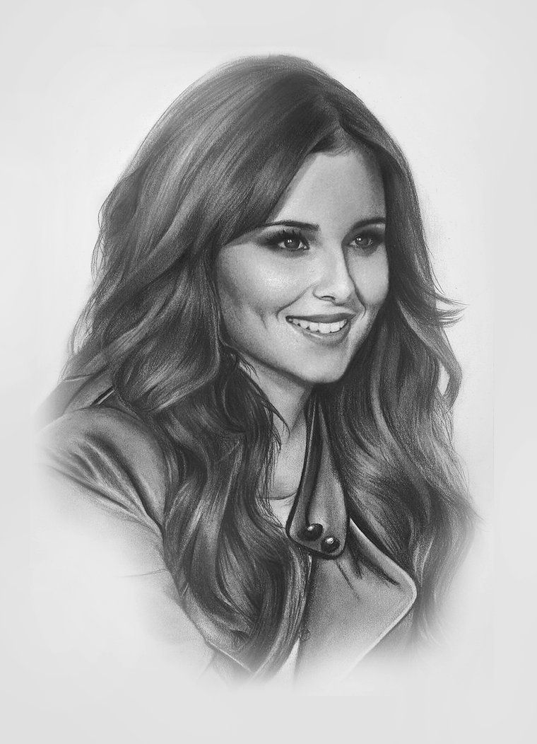 Awesome realistic drawing of a woman