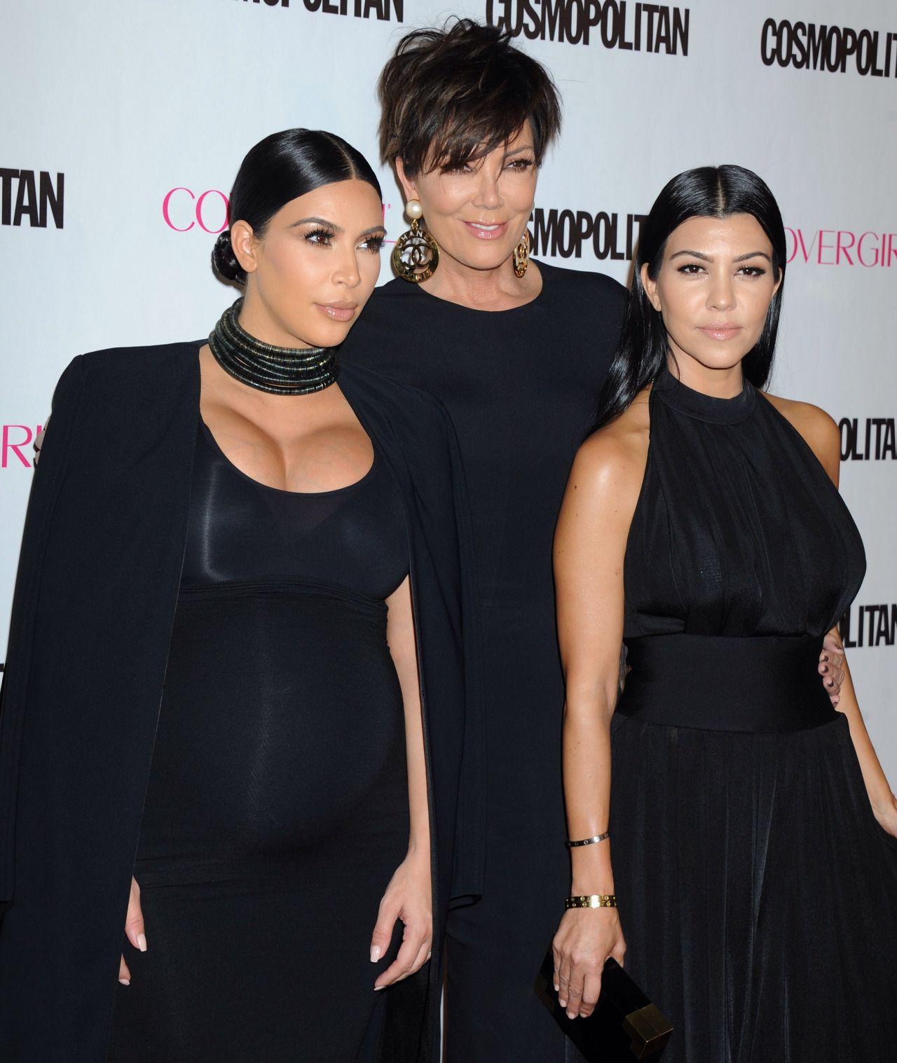 Kim, Kris & Kourtney at Cosmopolitan's 50th Birthday