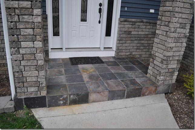 Slate Tile Porch Decorate Diy Projects Concrete