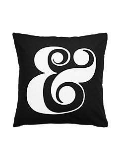 cotton ampersand decorative pillow by kate spade new york
