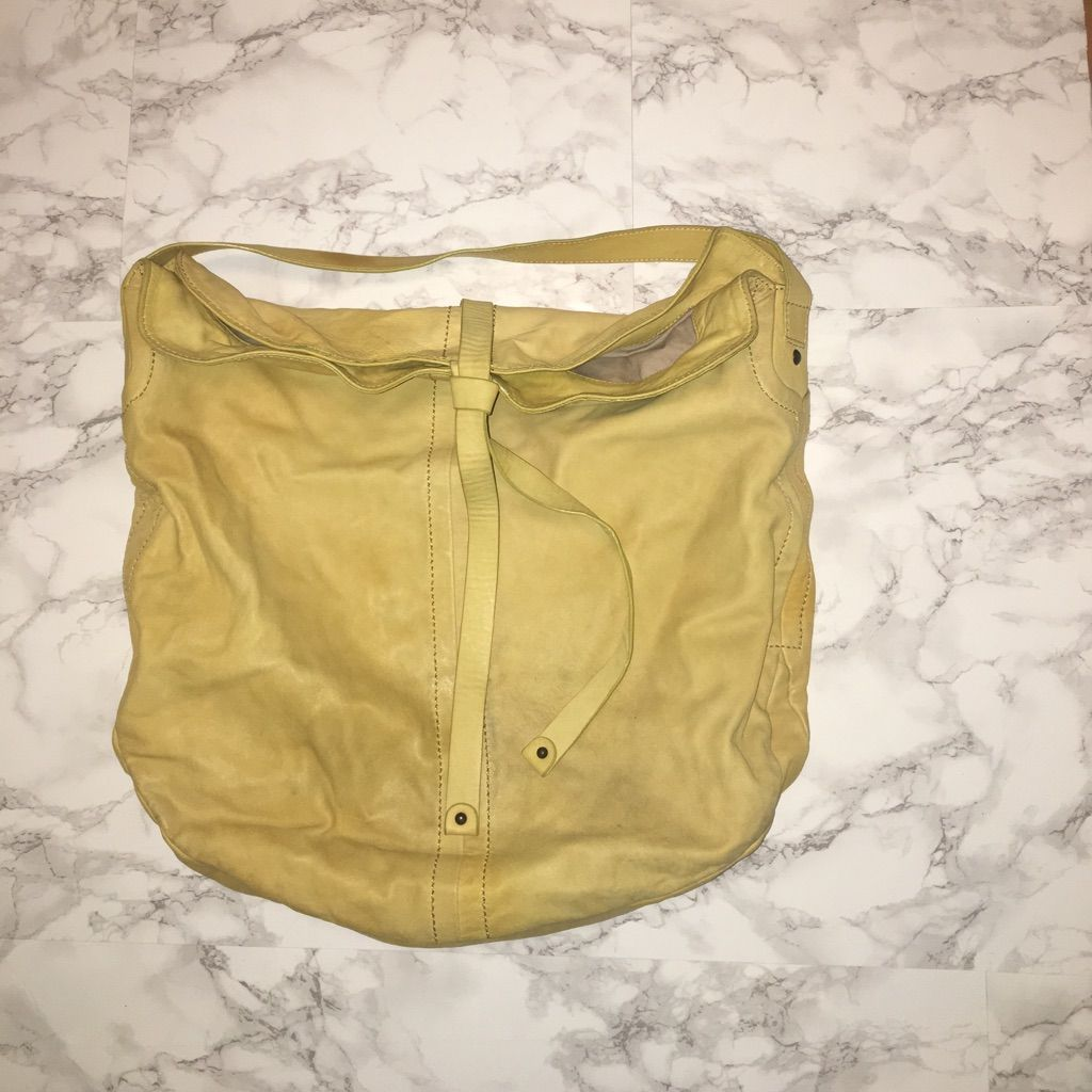 Leather Gap Large Tote Light Yellow