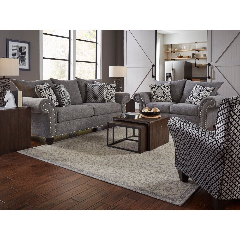 Best Casual Traditional Gray 2 Piece Living Room Set Paradigm 400 x 300