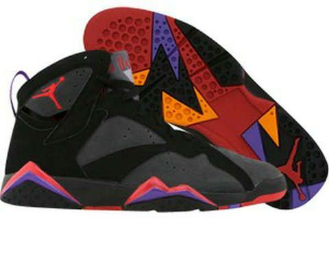 Air Jordan 7 Retro Black (Noir) Grey (Gris) Varsity Red (Rouge