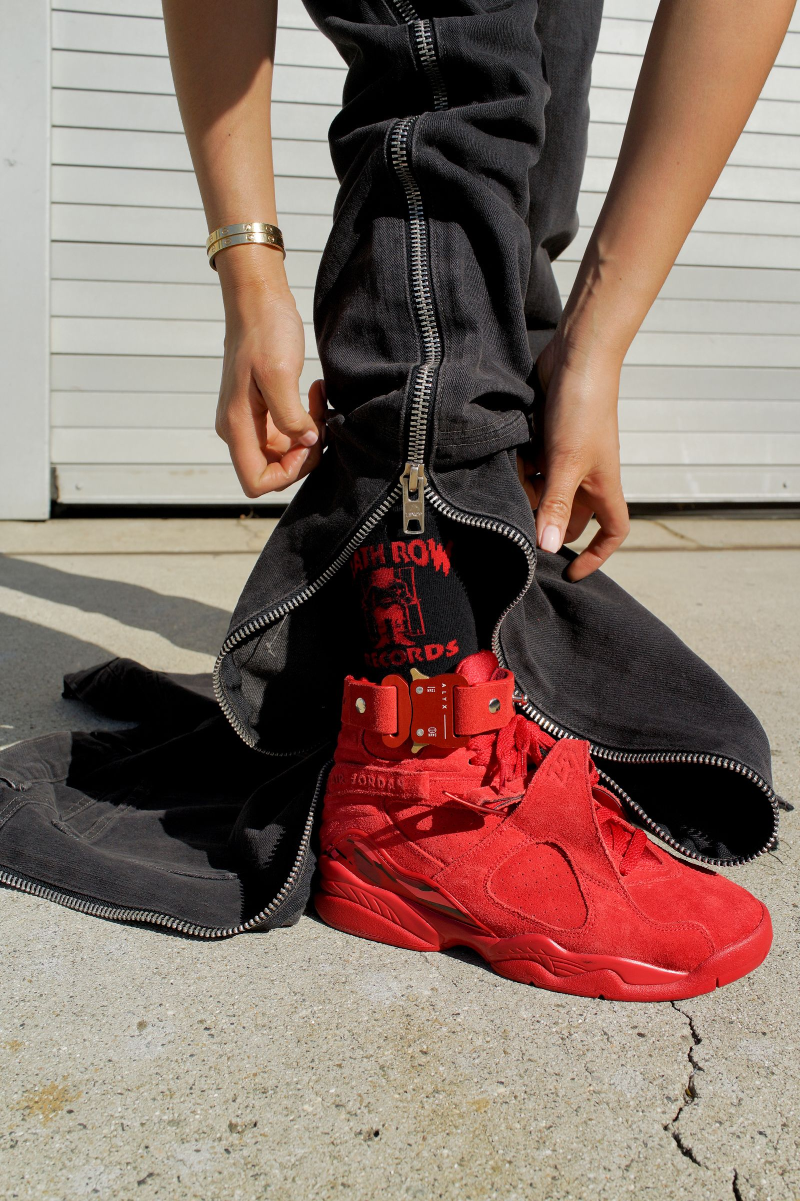 Aleali May Wearing The Valentine S Day Jordan 8 Retro With Death Row