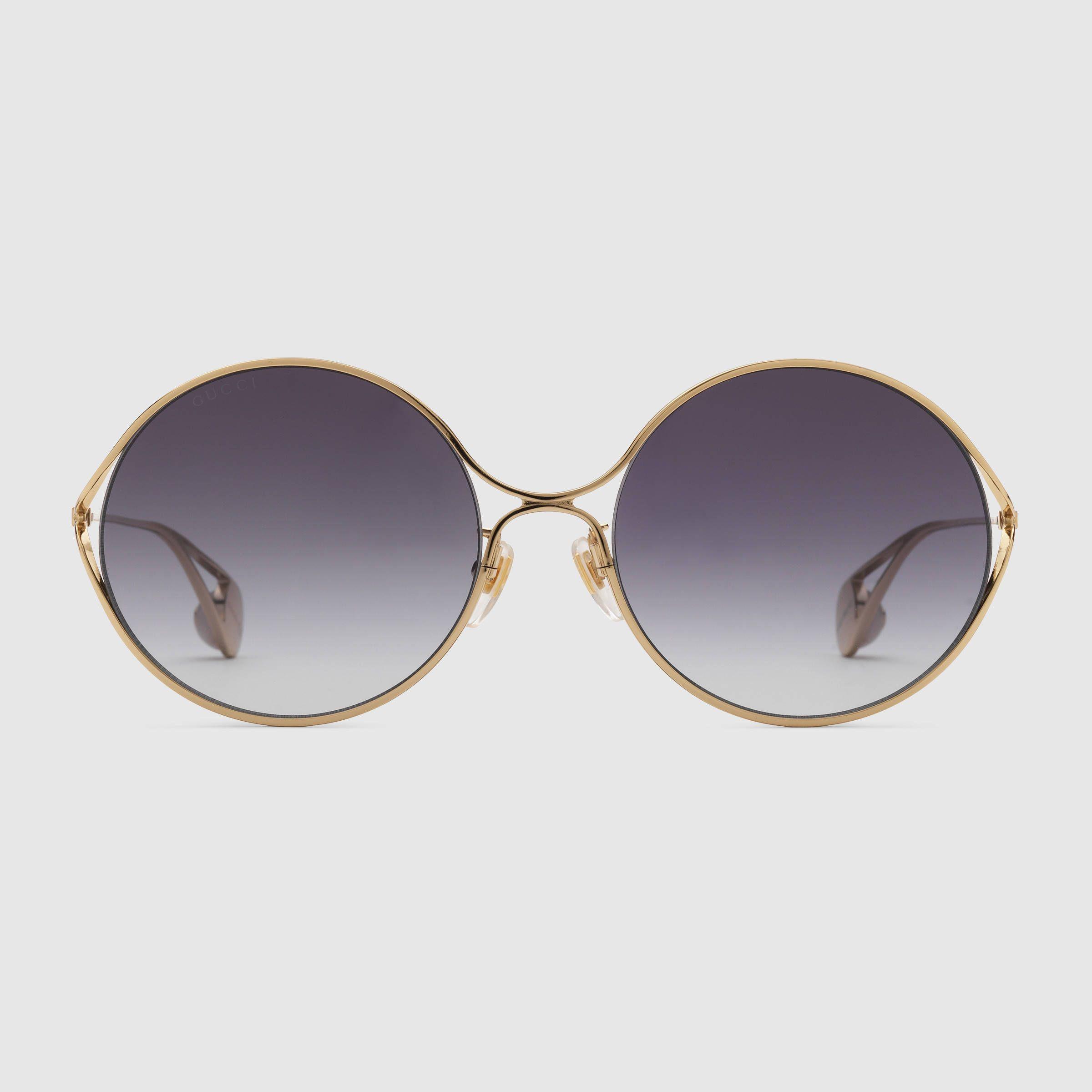 fa943c068f3 Round-frame metal sunglasses   550 Print Style 506149 I0330 8811
