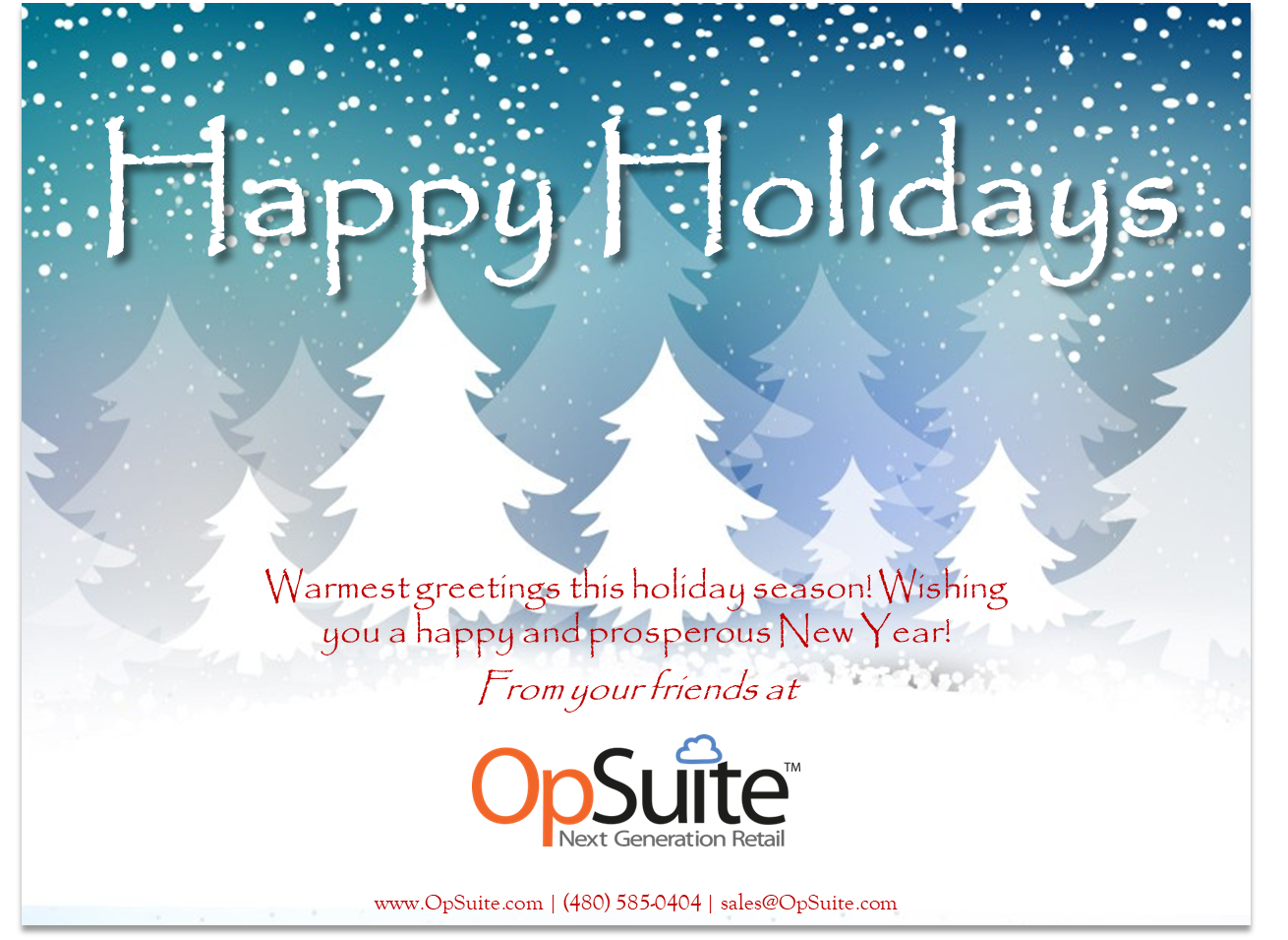Seasons Greetings Happy Holidays From Opsuite Opsuite News
