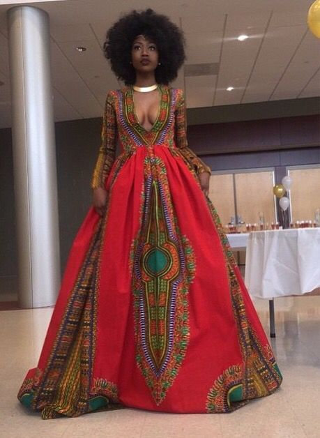 African Print Prom Dress Sophisticated Elegant Culture Heritage