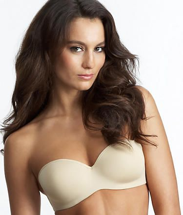 f6c1f3a5ab0e6 Le Mystere Sculptural Strapless - a great pushup firm molded cup style for  those who want shape and support. Comes in nude and black. Sizes 32-38 A-D.