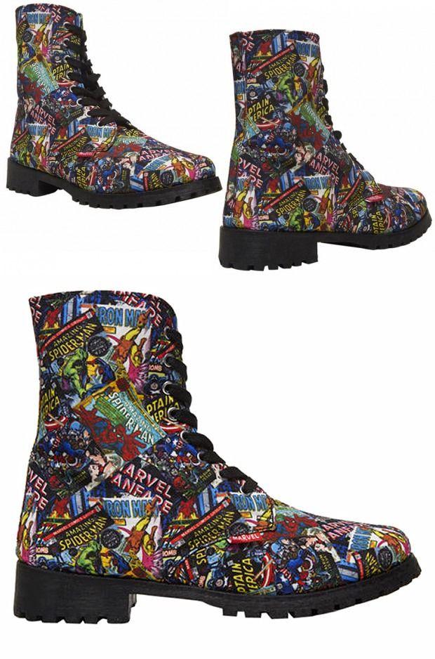 Marvel Comics Combat Boots
