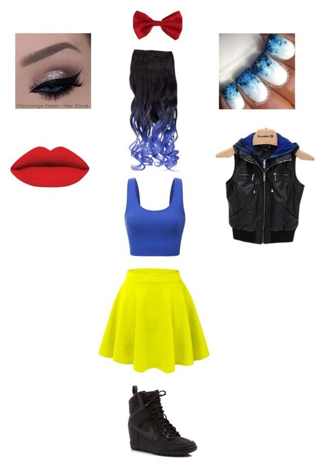 """""""My modern Snow White!!"""" by kcfroehlig on Polyvore featuring LE3NO, Doublju, Torrid, NIKE, Ashley, modern, women's clothing, women's fashion, women and female"""