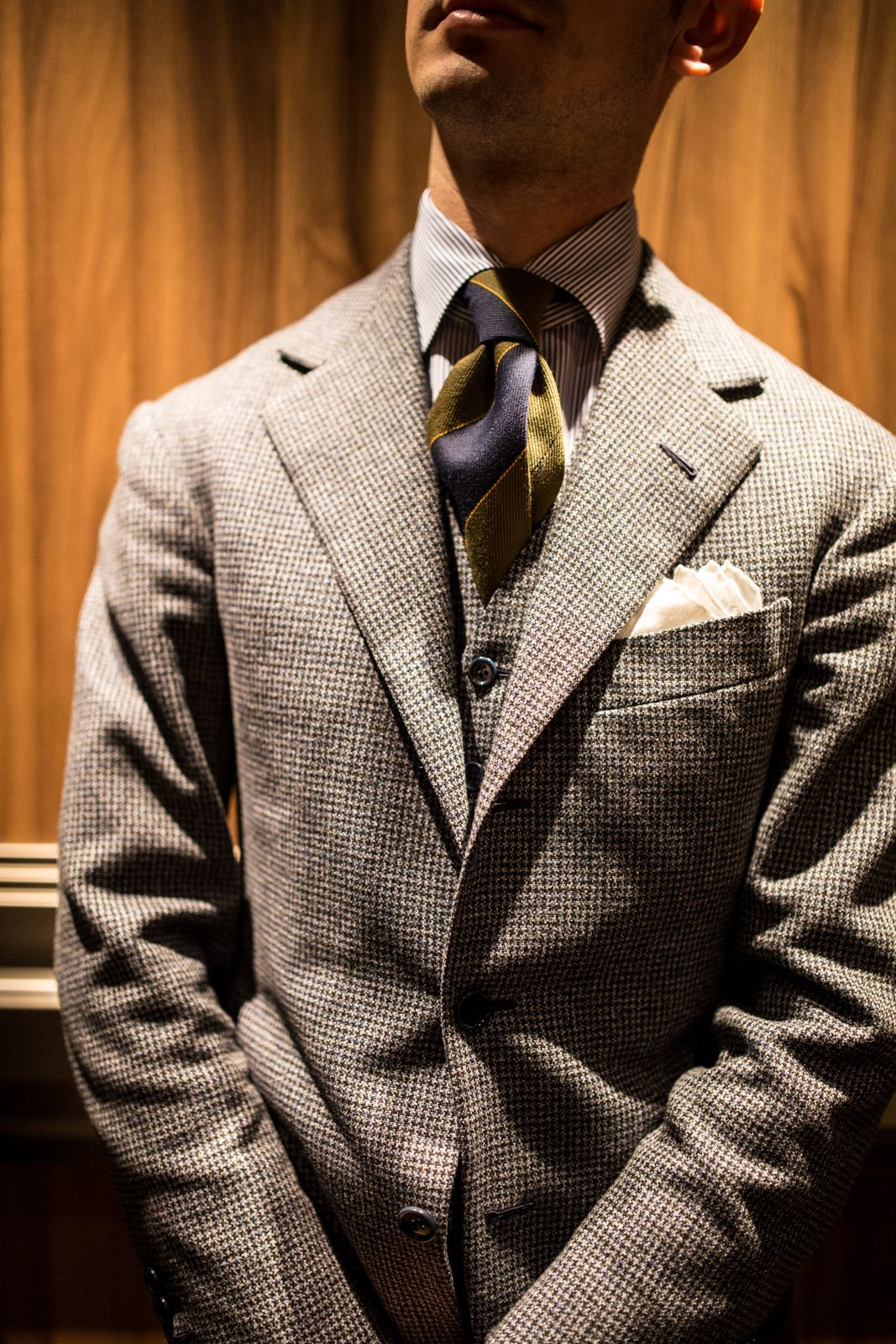 Flannel shirt with suit  Houndstooth Flannel  Match u Comnination Men  Pinterest