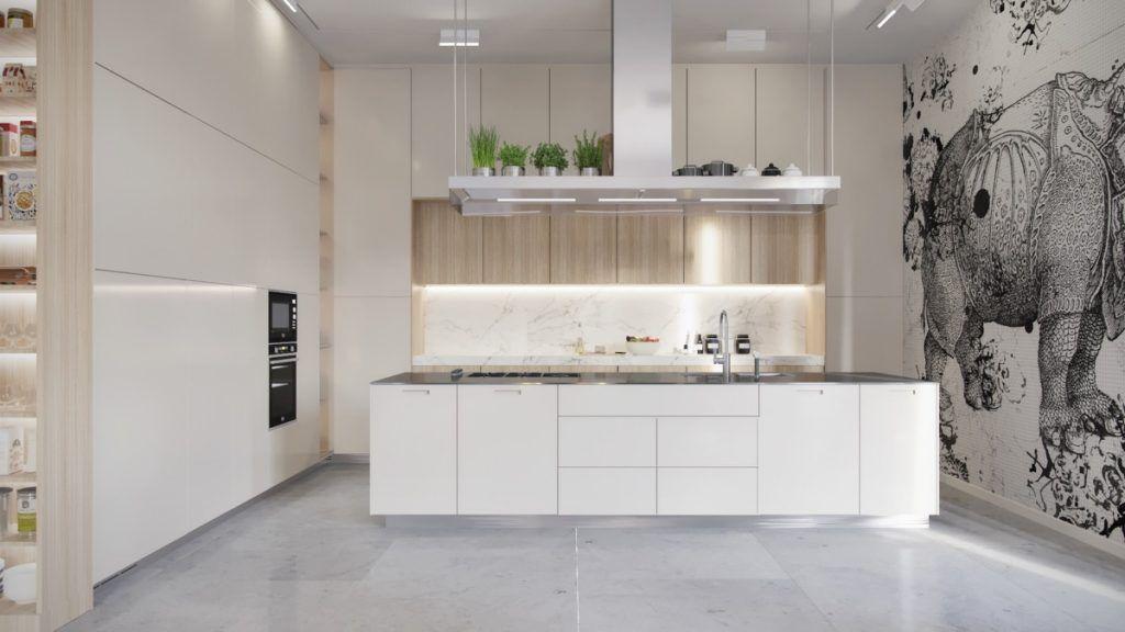 Marble Floor Kitchen - Kitchen Design Ideas