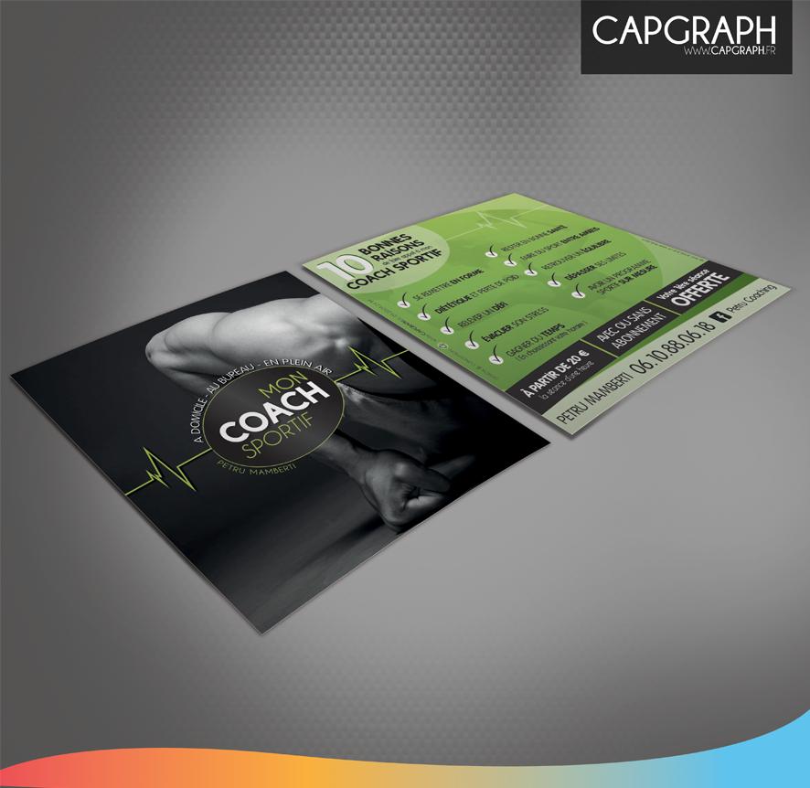 Souvent Création Graphique + Impression Mon coach Sportif à Domicile  NA74